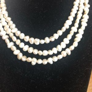3 strand fresh water pearl necklace